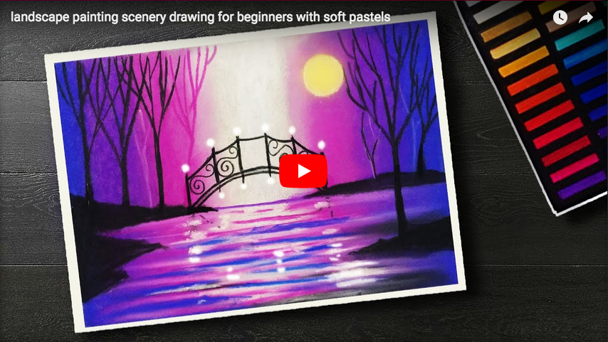 Pastel Tutorial Landscape Painting Scenery Drawing For Beginners