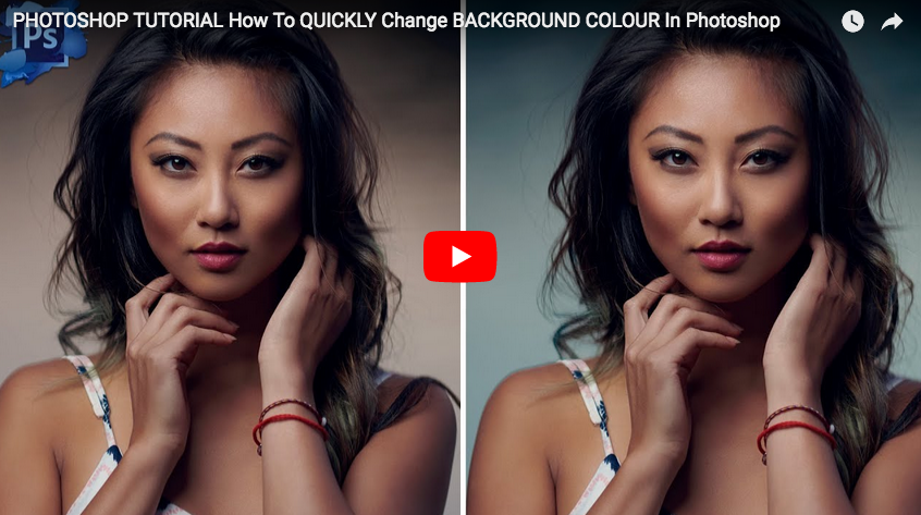 ps tutorial how to quickly change background colour in photoshop